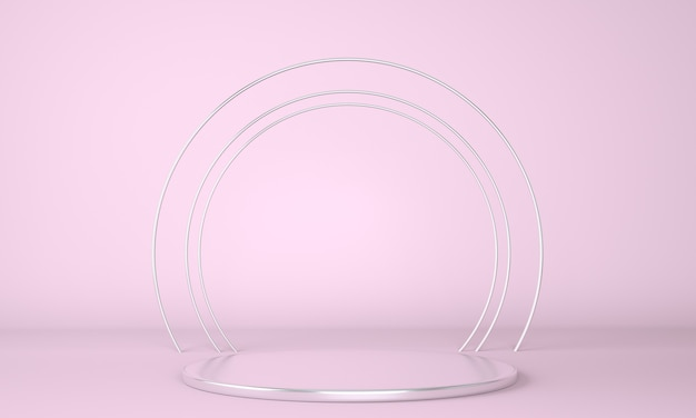Product podium on pastel background 3d