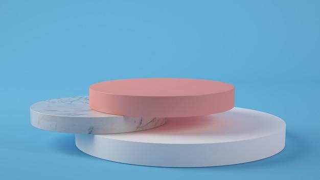 Презентация продукта креативный подиум 3d рендеринг