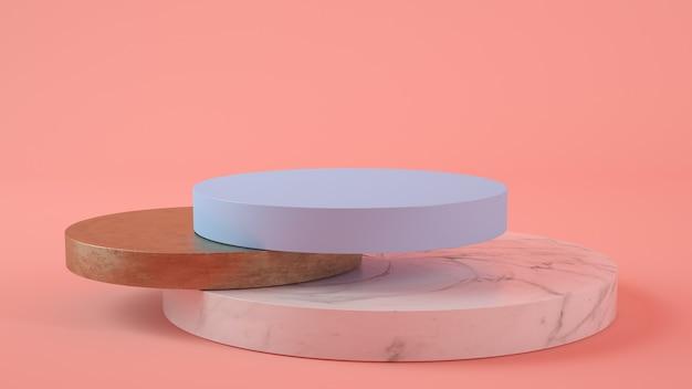 Подиум презентации продукта 3d-рендеринга