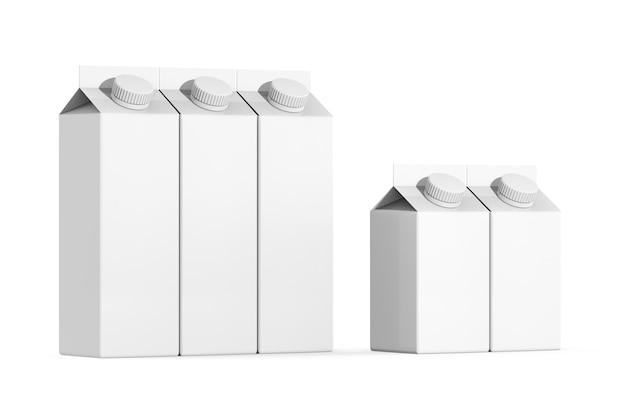キャップ付きミルの製品セットパッケージ3dレンダリング