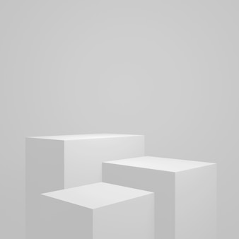 Product shaped stand in the studio