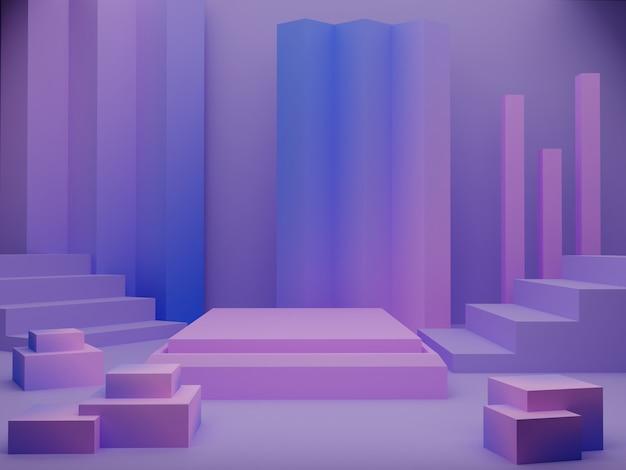 Стенд продукта 3d визуализации подиум фон