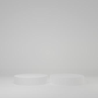 ホワイトルームの製品スタンド製品のスタジオシーン最小限のデザイン3dレンダリング