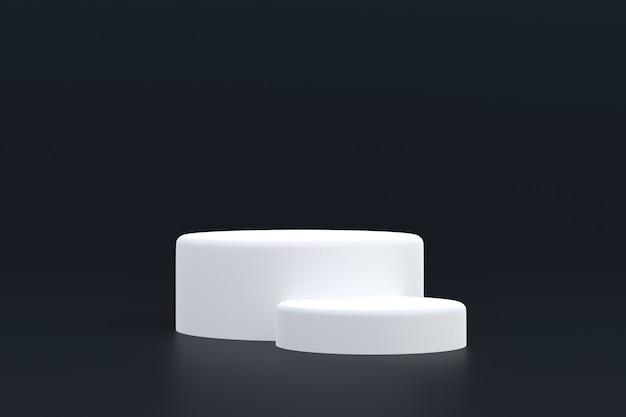 Стенд продукта, минимальный подиум на черном фоне для презентации косметической продукции.
