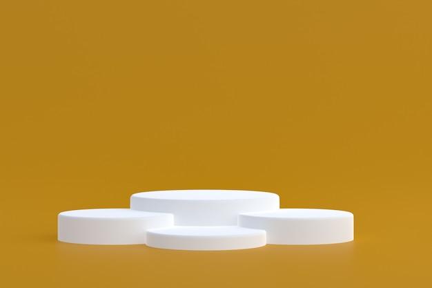 Стенд продукта, подиум минимальный на коричневом фоне для презентации косметической продукции.