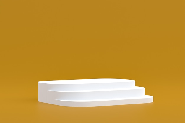 製品スタンド、化粧品のプレゼンテーション用の茶色の背景に最小限の表彰台。