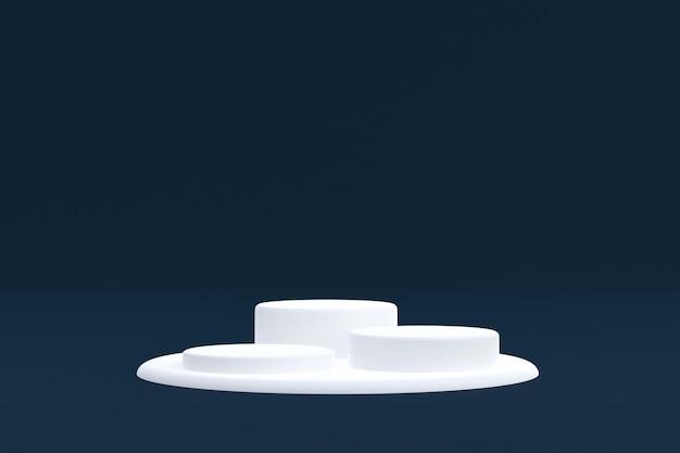 제품 스탠드, 화장품 프레젠테이션을 위해 어두운 배경에 최소한의 연단.