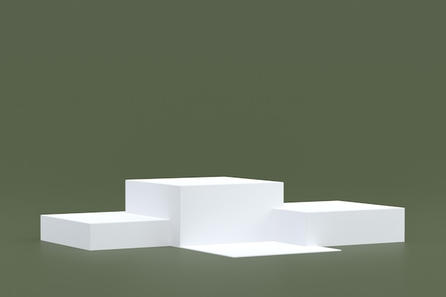 제품 스탠드, 화장품 프레젠테이션을 위해 회색 배경에 최소한의 연단.