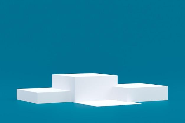 Стенд продукта, подиум минимальный на зеленом фоне для презентации косметической продукции.