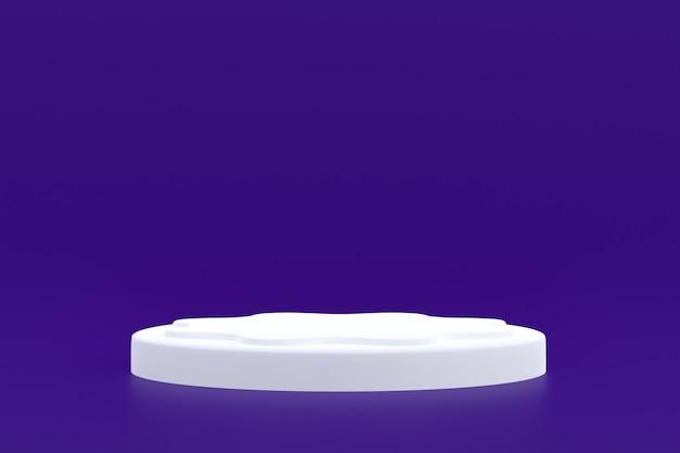 Стенд продукта, подиум минимальный на фиолетовом фоне для презентации косметической продукции.