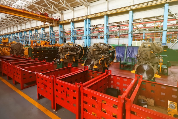 Production line for large vehicles at the plant