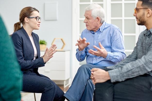 Productive conversation with psychologist