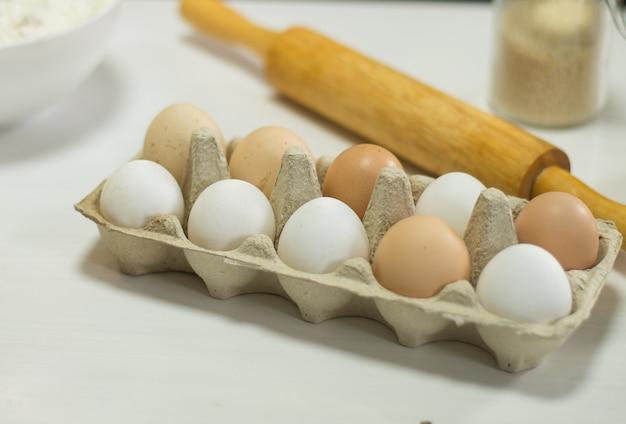 천연 농장 계란 가루 꿀 참깨 베이킹 제품