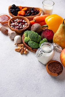 Products for healthy bowel.  food for gut