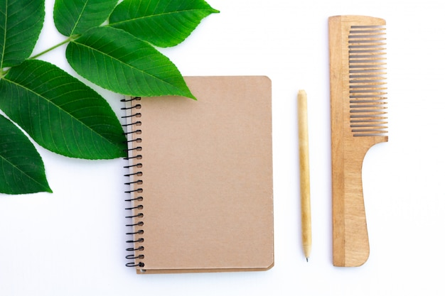 Products made from recycled paper. eco concept, ecology care. environmental protection, nature conservation and rejection of plastic products.