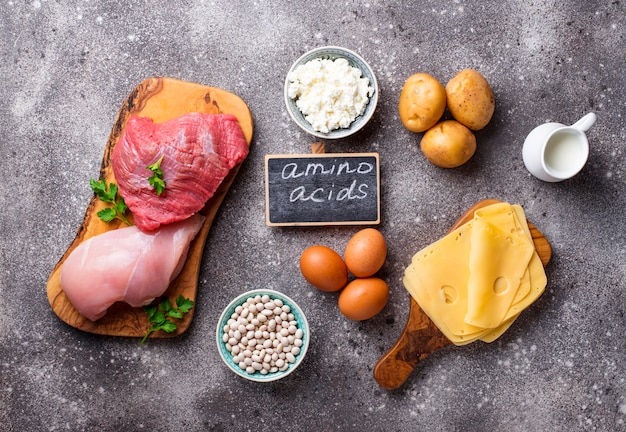 Products rich in amino acids