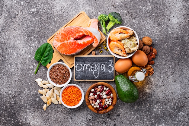 Products sources of omega-3 acids
