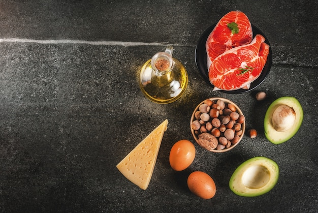 Products with healthy fats