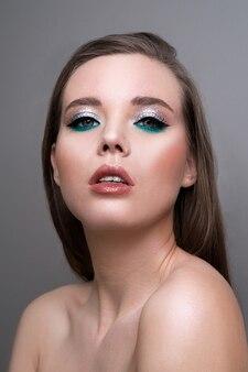 Professional beauty eyes makeup