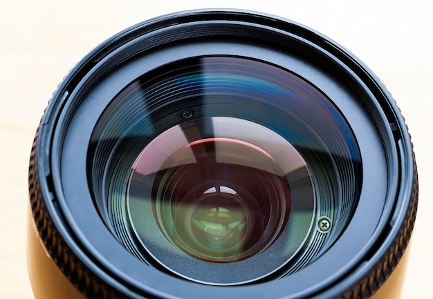 Professional camera lense isolated