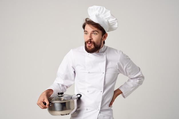 手料理サービスの仕事でプロのシェフポット
