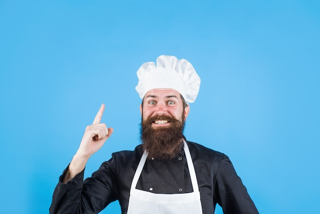 Professional chef sign for delicious male chef in white uniform cook or baker gesturing excellent