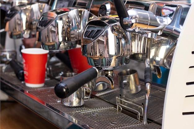 カップルコーヒー用のプロのコーヒーマシン