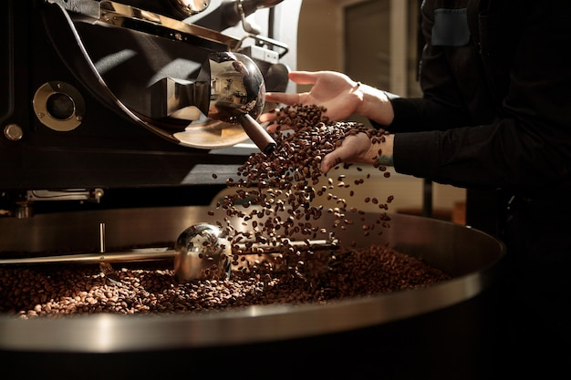 Professional coffee roasting process