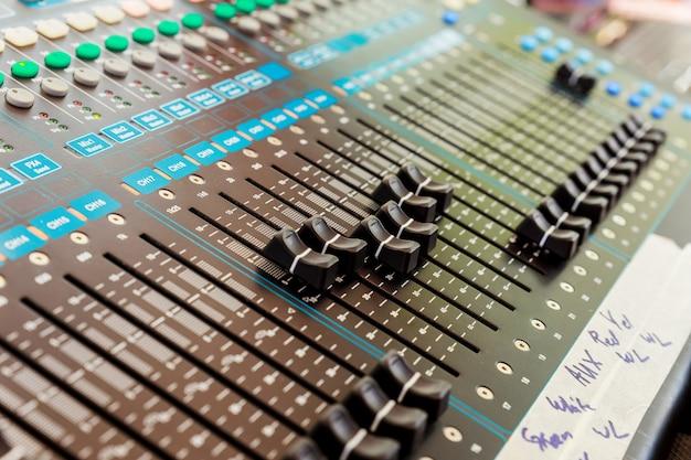 Professional console sound mix.