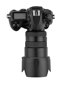 Professional digital lens reflex-top view