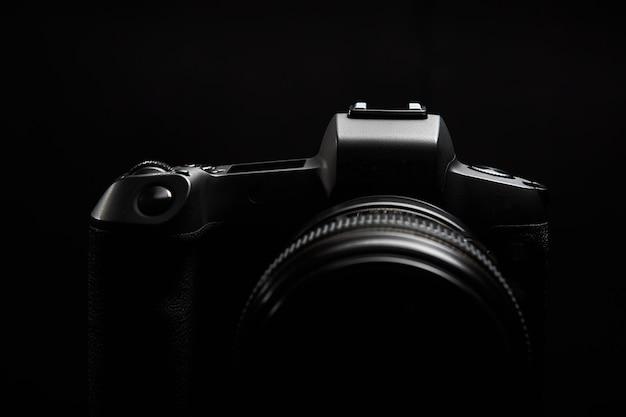블랙에 대한 전문 디지털 사진 카메라