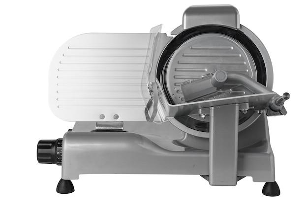 白い背景で隔離のプロのキッチン食品スライス機