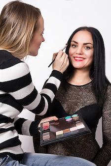 Professional make-up artist do make up
