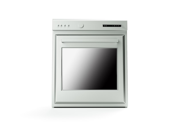 Professional oven on a white background 3d render