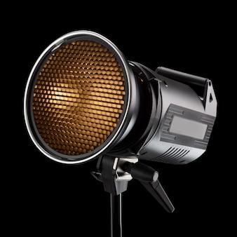 プロの写真スタジオのフラッシュライト