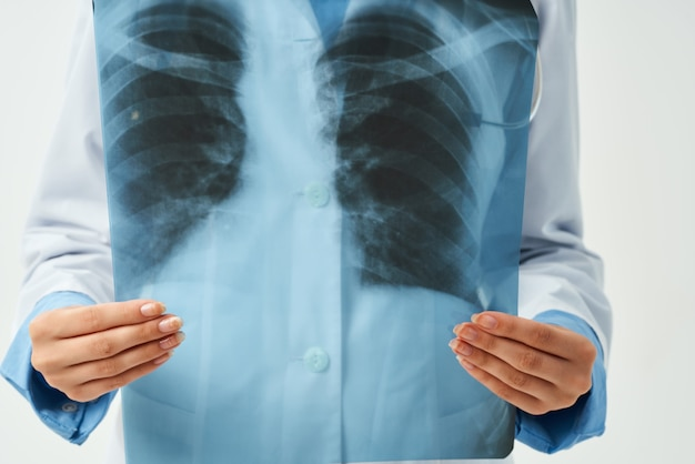 전문 방사선과 전문의 엑스레이 연구 작업