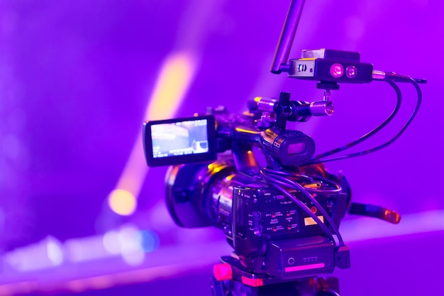 Professional video camera equipment