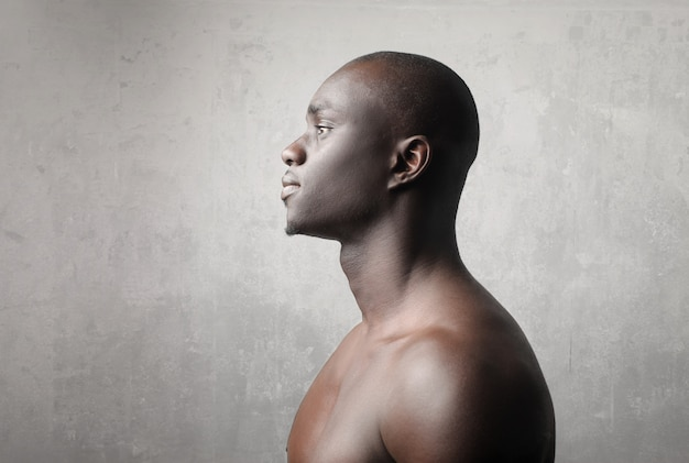 Profile of a black man