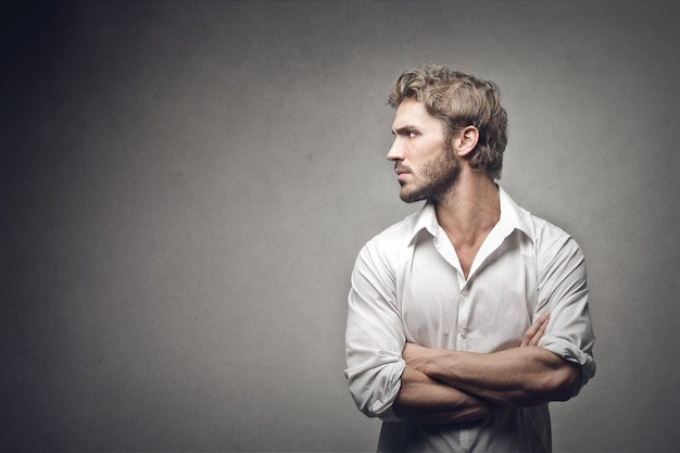 Profile of a businessman