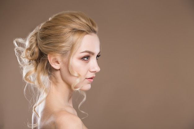 Profile of a young girl