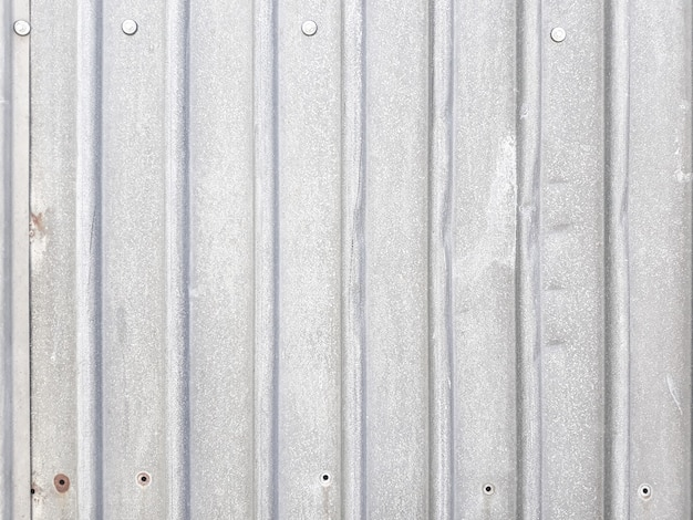 Profiled metal sheet silvery background.
