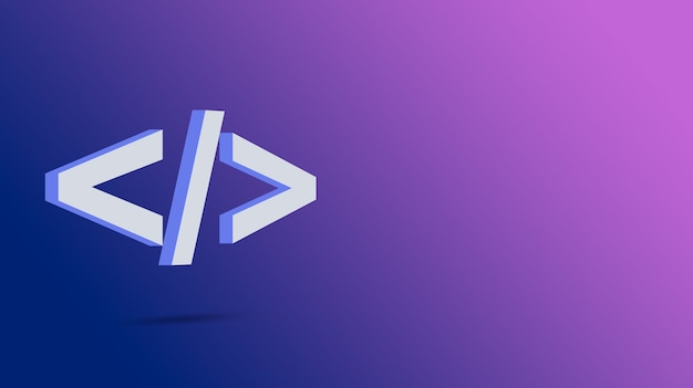 그라데이션 배경 3d에 프로그램 코드 아이콘