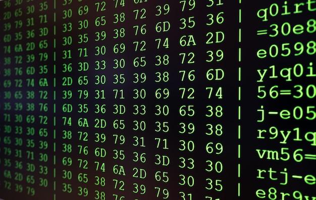 Программирование hex-кода на экране научного устройства
