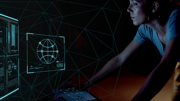 Программист работает ночью