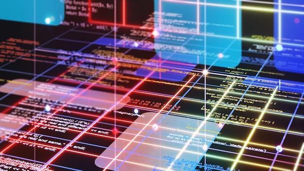 プログラミング言語を使用したシステムのプログラミング。