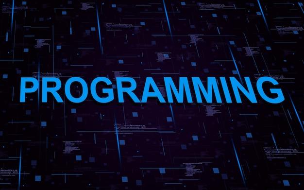 코드 요소와 조명 라인으로 텍스트 프로그래밍