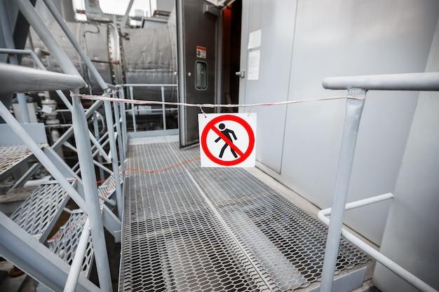 Prohibition of passage.