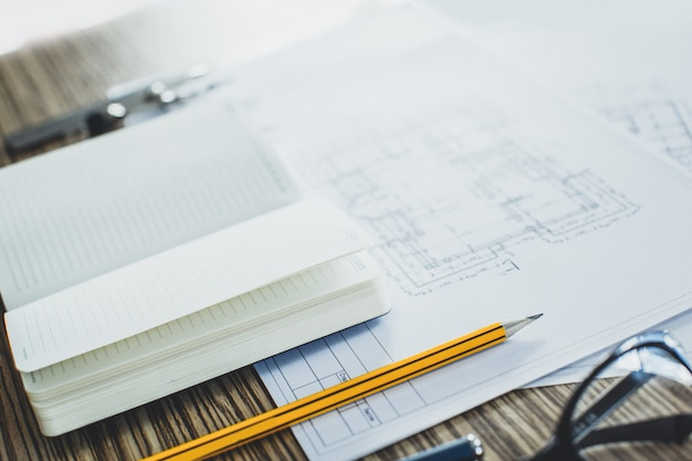 プロジェクトの図面とツール、クローズアップ