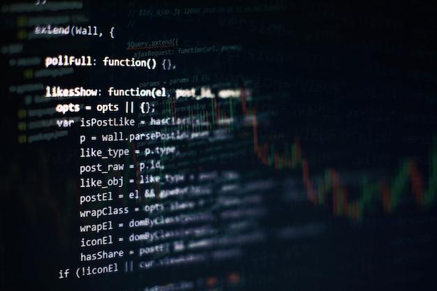 Project managers work new idea. www software development. mobile app developer. innovative startup project. website programming code. it business.
