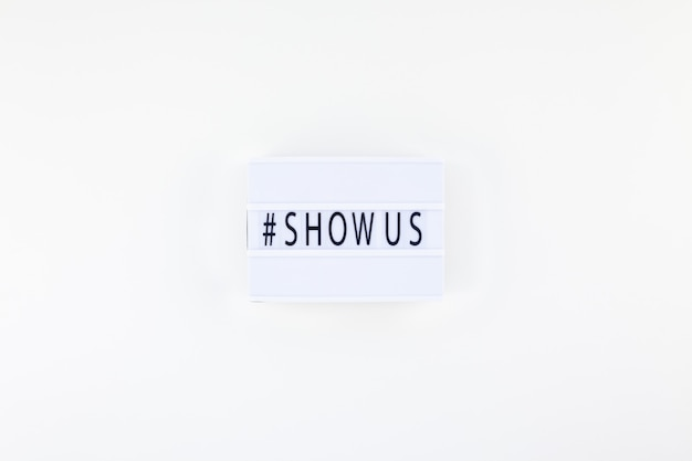 Project show us concept with lightbox